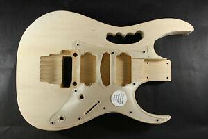 Unfinished Basswood 6 string, Jem style guitar body, trem, HSH, OSNJ, - B4