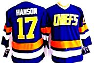 Men's Charleston Chiefs Blue 46 small Jersey Hanson Brother Slap Shot Movie CCM