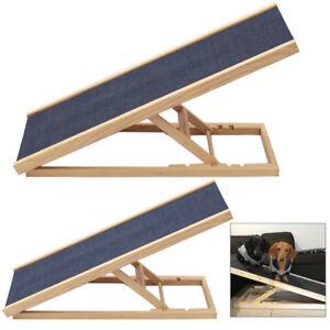 Pet Travel Dog Cat Ramp Sliding Board Ladder w/ Metal Hinge For Van Sofa Outdoor