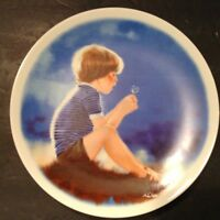 "VINTAGE 1978 DONALD ZOLAN ""ERIC AND THE DANDELION"" CHINA DECORATIVE PLATE"