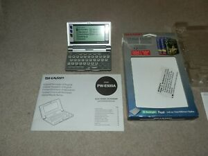 Sharp PW-E500A Electronic Oxford Dictionary Crossword Solver Thesaurus Boxed
