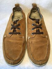 Sperry Top Sider Boat Deck Suede Shoes Men's Size US 10M Sahara Brown Leather