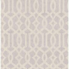 Wallpaper Designer Lavender Gray Taupe Geometric Trellis