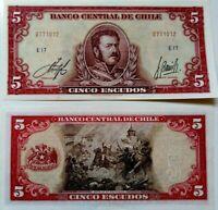 Chile (P135) 5 Escudos 1961 UNC