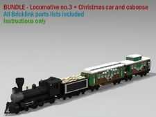 CUSTOM LEGO INSTRUCTIONS for locomotive no.3 with passenger car and caboose