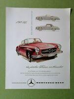 Nostalgisches Plakat / Kunstdruck: MERCEDES BENZ 190 SL Werbung Hochglanz