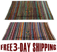 Set of 2 Pcs Wholesale Chindi Rug Cotton Home Decor Room Floor Mat Carpet Indian
