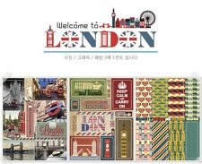 3 fogli Viaggio Londra Deco Adesivo Diary Scrapbooking Valigetta Telefono P001