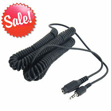15 ft Stereo Coiled Headphone Extension Cable Audio Cord 3.5mm M-F 15' MP3