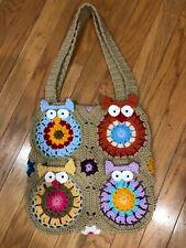 Crochet Granny Squares  Owl  bag New