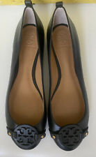 New Tory Burch Ballet Flats Size 8 In Black Leather.
