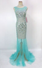 New Jovani 78482 Authentic Green Beaded Evening Pageant Wedding Women Gown 2