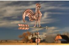 Pure Copper Rooster Weathervane Chicken Arrow Directional Roof Mount Sculpture