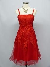 Cherlone Red Prom Ball Evening Bridesmaid Wedding Knee Length Formal Dress 14