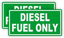 2 - DIESEL FUEL ONLY Vinyl Decals Stickers  Gas Can Labels Transfer Tank  USA
