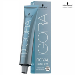 Schwarzkopf Professional IGORA ROYAL HIGH LIFTS Permanent Color Dye Creme - 60ml