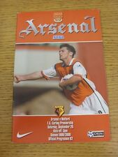 25/09/1999 Arsenal v Watford (the item is in good/very good condition with no a