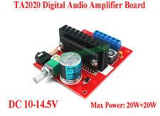 TA2020 20W+20W Dual Ch Numérique Stéréo Audio Amplificateur Board Module DC 10V-14.5V