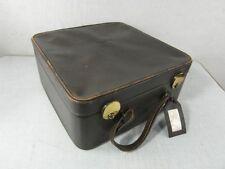 Koffer Kunstleder Reisekoffer Antik Stil Unrestauriert Vintage Rar Hut Box 23a2