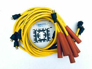 8mm Spark Plug Wires Ignition Cables Female Cap Non-HEI AMC Chevy Jeep Pontiac