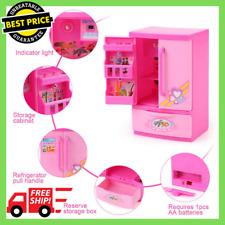 Furniture Play Set Food Barbie Doll Dream House Kitchen Refrigerator Accessories