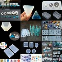 Mold Tools Set Resin Casting Molds For Crafts Silicone Epoxy Jewelry DIY Hot UK_