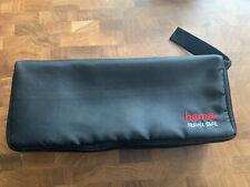 Retro Hama Cassette 15 Tape Carry Travel Case Zip Up Black Storage Solutions