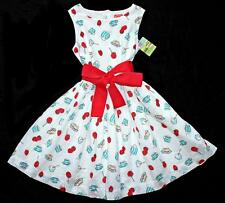 JOULES Girls CREMTEA Dress Sash Bow Tie Tea Party ~ Tween 140 Euro 9-10 NWT ls