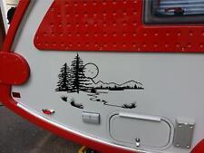 Lake Landscape Camper RV Vinyl Decal Sticker Camper Graphics Stickers 14x24