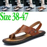 Men's Casual Sandals Flats Flip Flops Open Toe Slippers Slingbacks Beach Summer