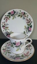 Wedgwood Bone China 'Hathaway Rose' Coffee Can, Saucer & Side Plate Trio Set