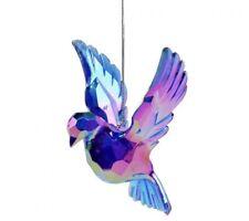 Purple Iridescent Acrylic Bird Hanging Decoration