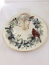 Vintage Lenox American Home Collection Winter Greetings Cookie/Serving Dish Nib