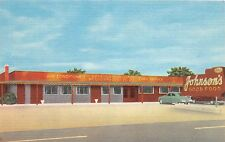 B16/ Dunn North Carolina NC Postcard Linen Johnson's Restaurant 301Hwy Roadside