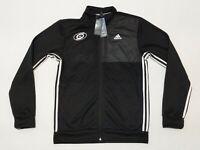 New Adidas Carolina Hurricanes Full Zip Jacket Black White GJ9709 Men's Sz M