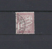 FRANCE 1884 STAMPS Postage Due 1 Franc Brown Red Used J26 (Mi.24)