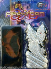 Firestorm Stun Gun with Holster Silver Black Dragon 8,000,000 Volt New in Box