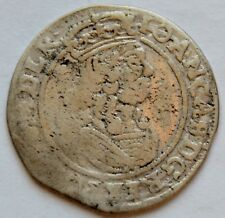 6 Groschen Grossus 1664 AT Krakow, Poland Szostak, king John II Casimir Vasa