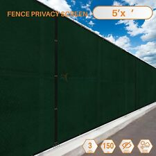 Customize 5'FT Privacy Screen Fence Green Commercial Windscreen Shade Mesh Cover
