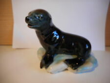 VINTAGE WADE BLOW UP SEAL PUP ON ICE FIGURINE 1960'S