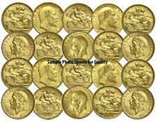 Lot of 20 Pre-1933 XF - AU BRITISH GOLD KING SOVEREIGNS world bullion coins