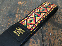 Ernie Ball Quality Santa Fe Jacquard Leather Ends Guitar Strap Made In USA RRP £