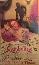 CYMBELINE Cast Signed Broadway Poster Windowcard