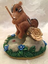 Charming Tails Gone Fishin' Fishing Figurine Figure Squirrel Chipmunk Tail