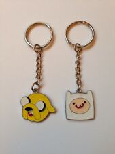 Adventure Time Finn & Jake Keychain Key Ring  Keyring Set Free Post UK