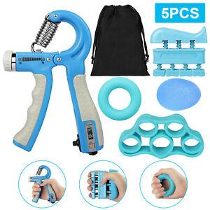 5x Hand Strengthener Gripper Finger Exerciser Adjustable Forearm Therapy Trainer