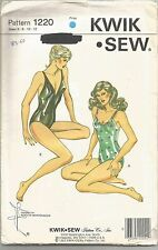 Kwik Sew Pattern 1220, Swimsuits in 2 Styles, Adult 6 - 12, OOP, Uncut