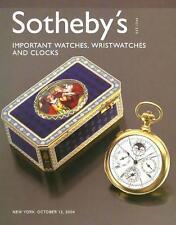 Sothebys ///  Wristwatches Watches Clocks Patek Post Auction Catalog 2004