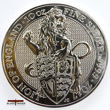 2017 10oz Queens Beasts Lion of England 10 ounce Silver Bullion Coin unc:
