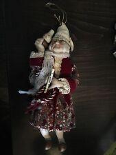 """Vintage 1984 Kurt Adler Dickens Ebenezer Scrooge Porcelain Figurine Ornament 9"""""""